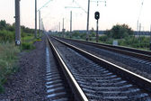 Empty rural railway tracks — Stock Photo