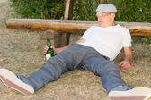 Addicted man experiencing lethargy after drinking — Stock Photo