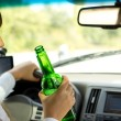 Stock Photo: Drunken female driver
