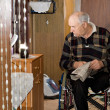 View into room of disabled elderly man — Stock Photo #32825979