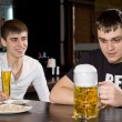 Stock Photo: Mwith huge tankard of beer