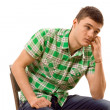 Watchful young msitting thinking — Stockfoto #41871601