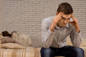 Upset young man after an argument — Stock Photo