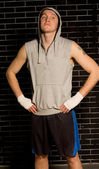 Confident young male boxer with an attitude — Stock Photo