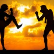 Muay thai or Thai Boxer - Foto Stock