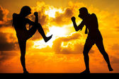 Muay thai or Thai Boxer — Foto Stock