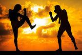 Muay thai o thai boxer — Foto Stock