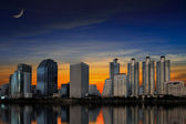 Cityscape with Reflection — Stock Photo