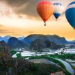 Hot air balloons floating up to the sky — Stock Photo #19782013