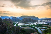 Landscape viewpoint at Khao Daeng ,Sam Roi Yod national park, Pr — Stock Photo
