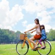 Cycling bicycle at the park — Stock Photo
