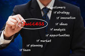 Business plan diagram — Stock Photo