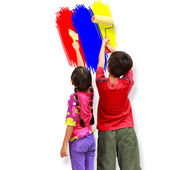 Kids painters — Stock Photo