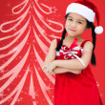 Merry Christmas - cute girl with Christmas gift — Stock Photo #28086993