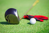Golf in a golf club — Stock Photo