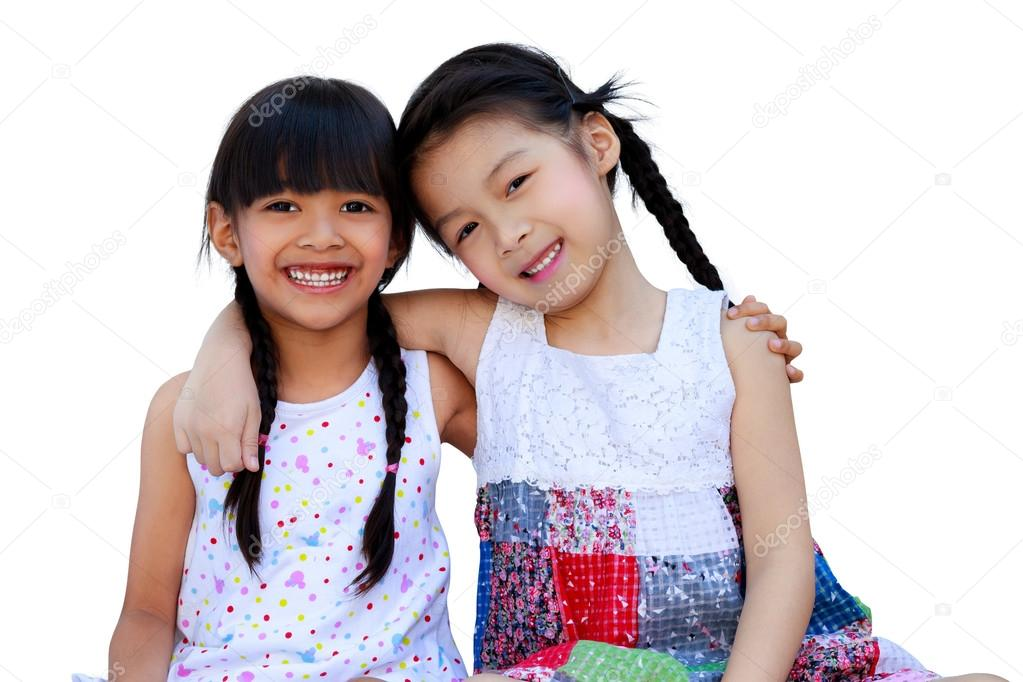 Little Girls Best Friends Two Little Girls Best