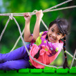 Happy little asian girl on the playground — Stock Photo