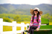 Smiling little asian girl — Stock Photo