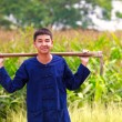 Teenager boy in thailand'ss agriculturist dress — Stock Photo