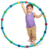Little asian boy with hula hoop — Stock Photo