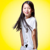 Beautiful smiling little asian girl — Stock Photo