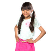 Sorridente menina asiática — Foto Stock