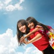 Happy asian mother and daughter — Stock Photo #50098471