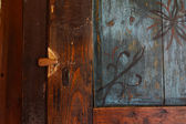 Ancient ornamental door — Foto Stock