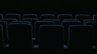 In the empty cinema hall — Stock Video