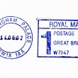 Foto Stock: Close up of Buckingham Palace postmark
