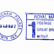 Close up of Buckingham Palace postmark - Stock Photo