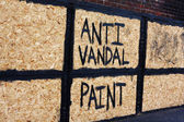 Anti vandal warning — Stock Photo
