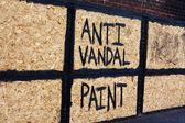 Anti vandal warning — Stock Photo