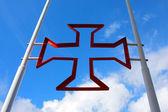 Estilo antigo vermelho cruz — Foto Stock