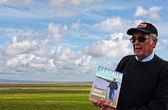 Cedric Robinson MBE, Queen's Guide to the Sands at Morecambe Bay — Stock Photo