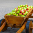 Vintage carriage full of apples — Stock Photo #26524579