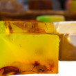 Homemade herbal soap bars — Stockfoto