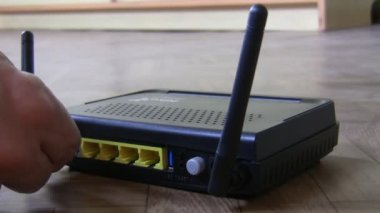 Connessioni router lan — Video Stock