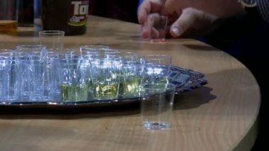 Drink presentation and sampling — Stock Video