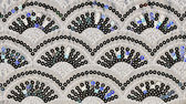Sequin arch pattern on fabric — Stock Photo