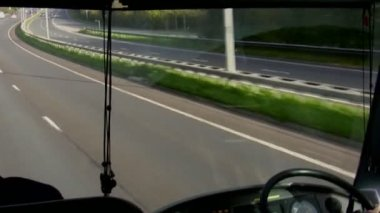 Bus windscreen view — Stock Video