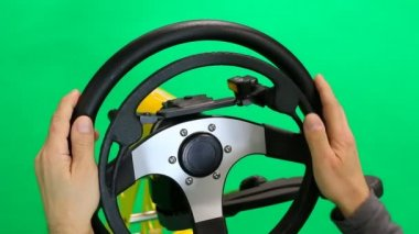 Steering wheel and controls for disabled — Stock Video