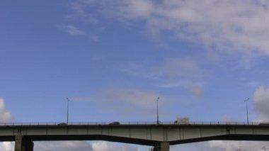 Transport on the bridge — Stock Video