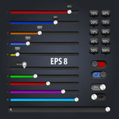 Set of progress loading bars — Stock Vector