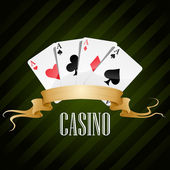 Vector illustration poker poster casino — Stok Vektör