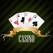 Vektör çizimi poker poster casino — Stok Vektör