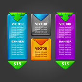 Colorful Banner Set Vector for sale — Stock Vector