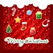 Royalty-Free Stock Vector Image: Christmas Greeting Card. christmas items icons.