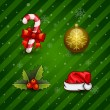 Royalty-Free Stock Vector Image: Christmas Icons Objects Collection.
