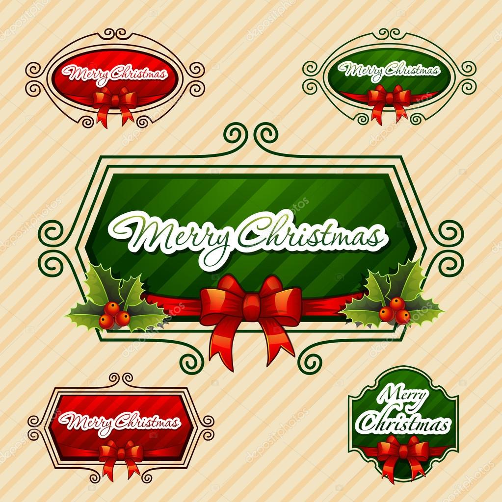 Merry Christmas, Creative label. Vector Illustration  — Stock Vector #14900301